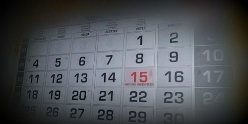 Koledar poslovnih obveznosti - marec 2015