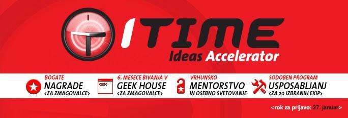 Do jutri je čas za prijavo na ITIME pospeševalnik idej