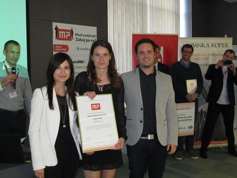 Mlada podjetnica leta 2013 je Kristina Kočet