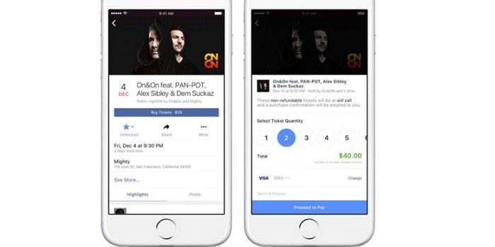 Facebook bo po novem prodajal vstopnice za dogodke