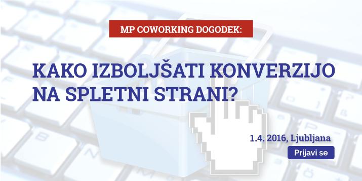 MP coworking dogodek: Kako izboljšati konverzijo spletne strani