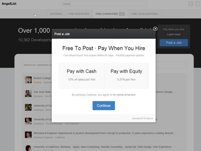 AngelList testira nov način plačevanja za oglaševanje