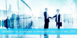 Zablestite na slovenskih in evropskih razpisih v letu 2017