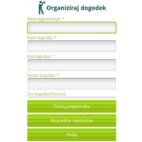 Povabi.si - android Aplikacija