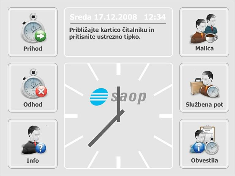 SAOP uvedel sistem za registracijo delovnega časa