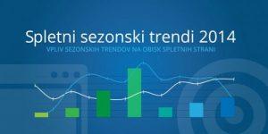 Sezonski trendi na spletu v letu 2014