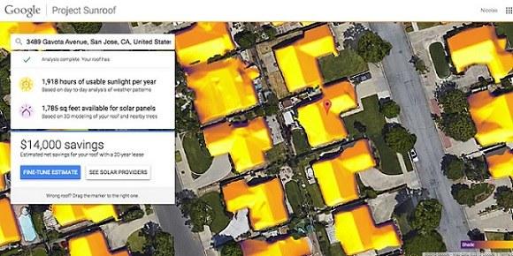 Google nas bo prepričeval k uporabi sončne energije