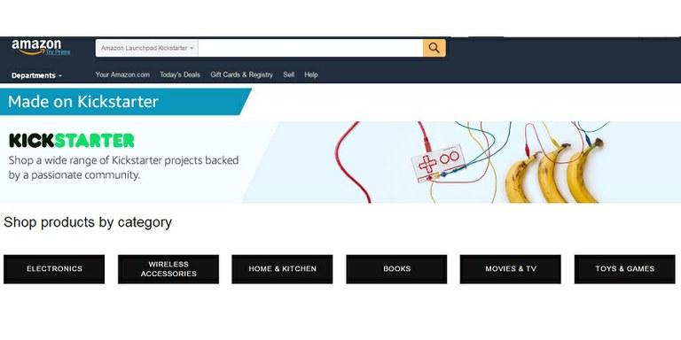 Amazon po novem ponuja Kickstarterjeve projekte!