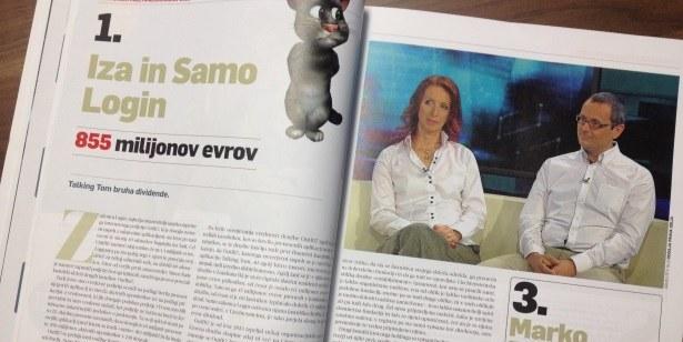 Najbogatejši Slovenci: že tretje leto zapored na vrhu Iza in Samo Login