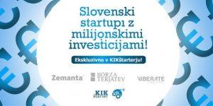 KIK OFF – startupi z največjimi investicijami