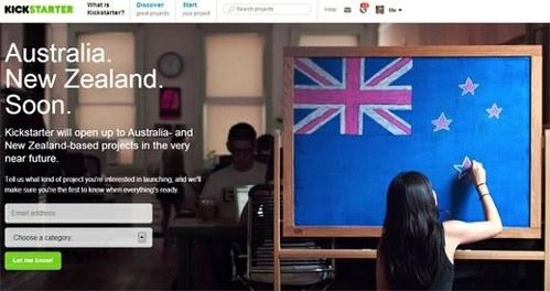 Kickstarter prihaja v Avstralijo in na Novo Zelandijo