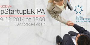 MP dogodek: #topStartupEKIPA