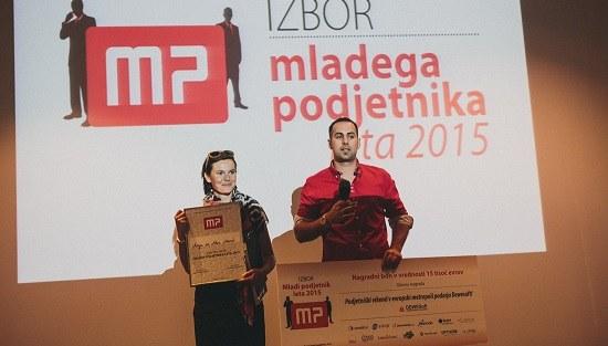 Zmagovalca izbora Mladi podjetnik leta 2015: Anja in Alen Marić, WoodWay