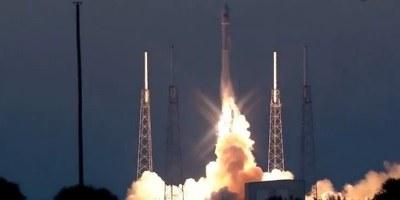 Satelit na poti, raketa v morju