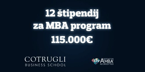 6 MBA in 6 Executive MBA štipendij v vrednosti 115.000 EUR