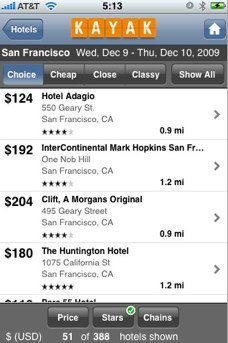 Kayak predstavlja posodobljeno aplikacijo za iPhone