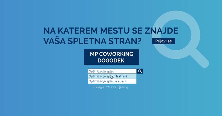 Vabljeni na MP dogodek: Optimizacija spletnih strani
