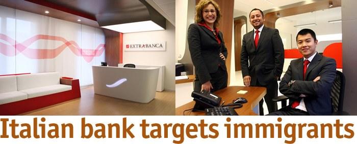 Poslovna priložnost: Ena izmed italijanskih bank cilja na imigrante