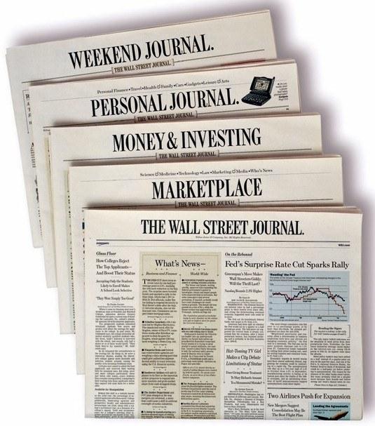 Wall Street Journal želi manj obiska na svoji spletni strani