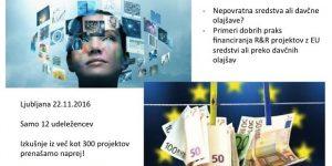 Financirajte svoje razvojno-raziskovalne projekte s pomočjo EU