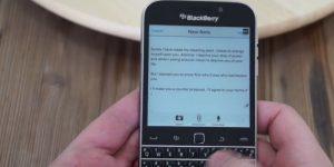 Blackberry telefone obesil na klin. Kaj zdaj?
