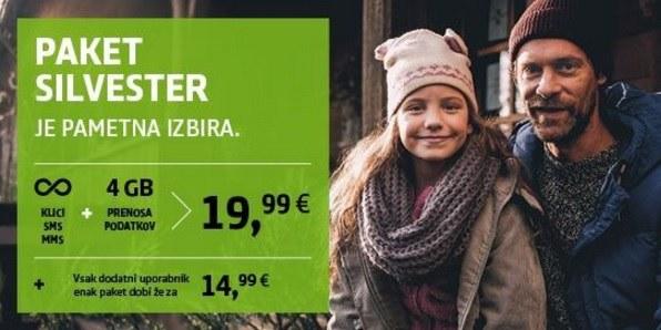 Paket Silvester - neomejena komunikacija in 4 GB interneta za samo 19,99 EUR!