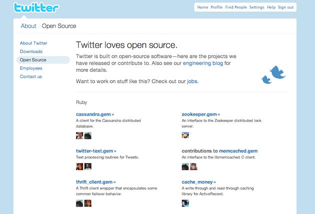 Twitter ljubi odprto kodo