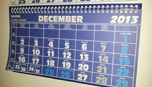 Urnik večstranskih pobotov v prihodnjem letu
