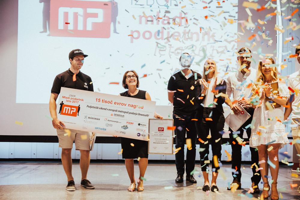 Mlada podjetnika leta 2017 sta Matej Pelicon in Anita Lozar, Pivovarna Pelicon