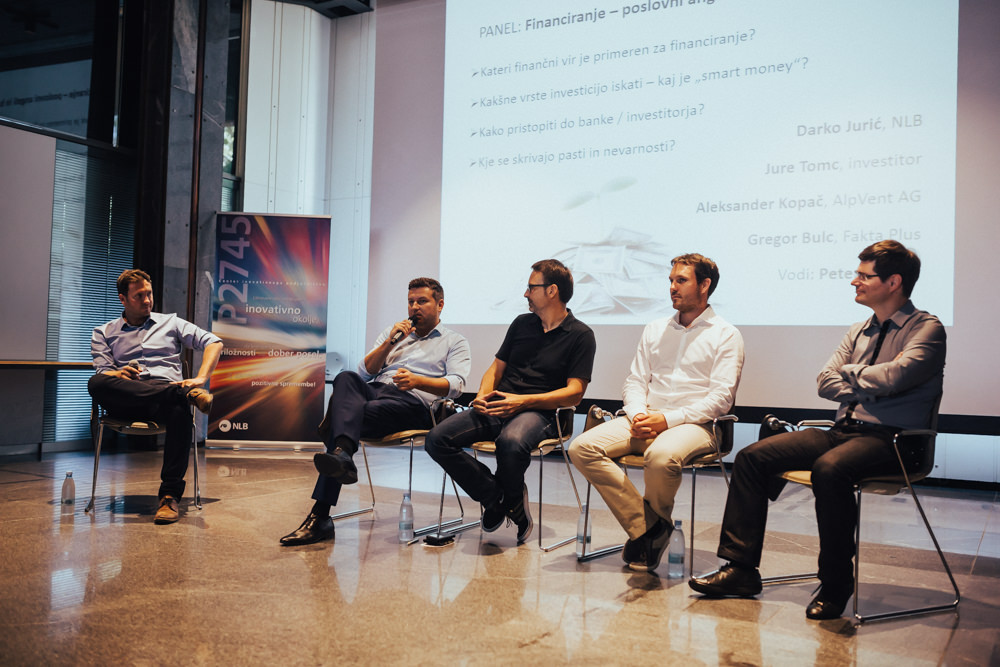 Darko Jurič (NLB), Aleksander Kopač (AlpVent AG), Gregor Bulc (Fakta Plus), Igor Panjan (Datafy.it).