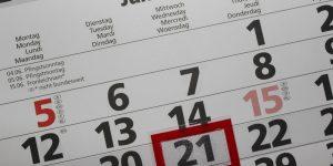 Koledar poslovnih obveznosti za julij 2017