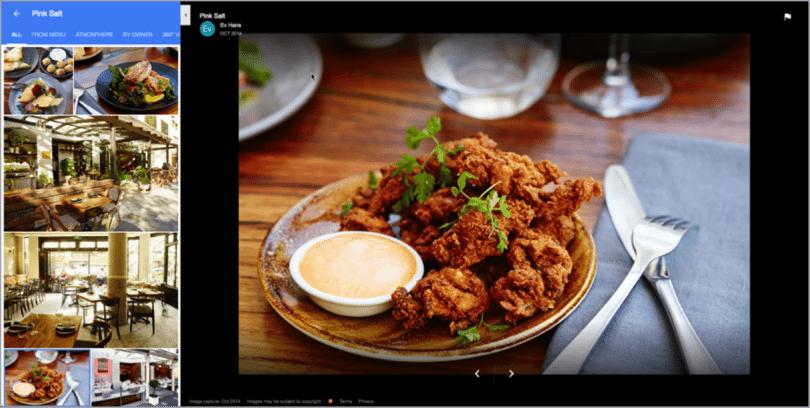 lokalni seo - primer uporabe fotografij