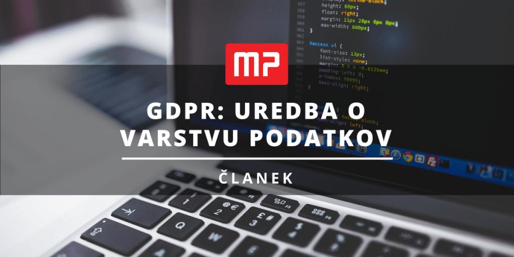 GDPR Uredba o varstvu podatkov