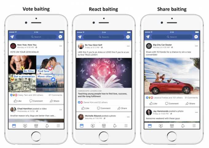 Facebook engagement bait 1