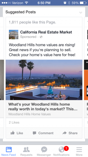 Facebook Messenger California Real Estate