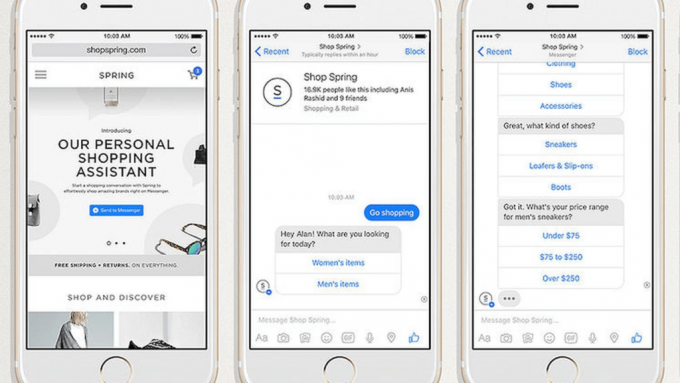 Facebook Messenger Shop Spring