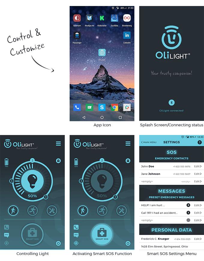 OliLight aplikacija
