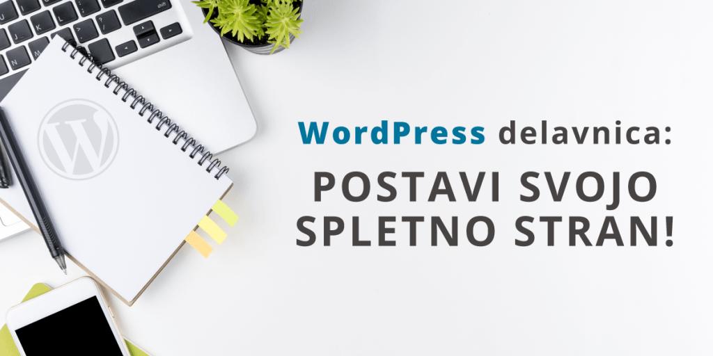 Delavnica WordPress: postavi svojo psletno stran!