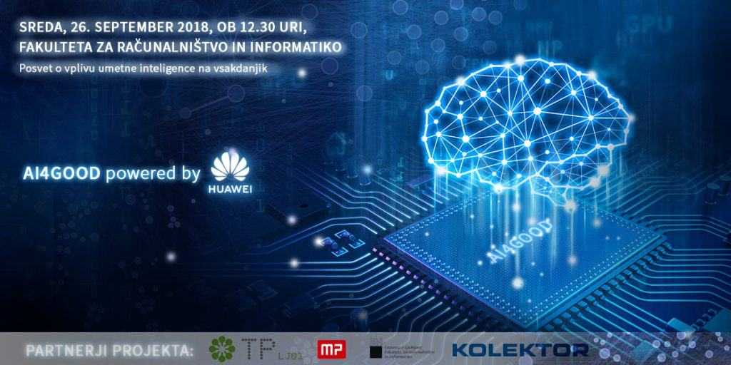 Konferenca o umetni inteligenci AI4GOOD - powered by Huawei
