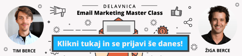 Delavnica Email Marketing Master Class