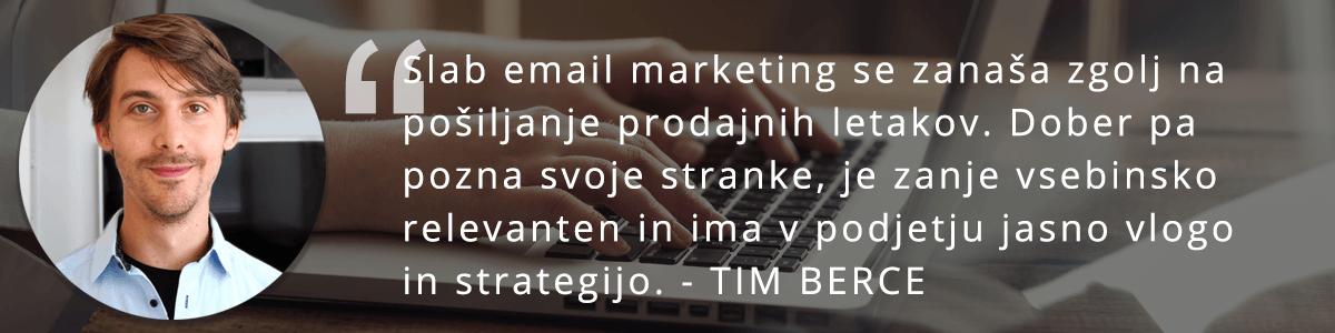 Tim Berce o email marketingu