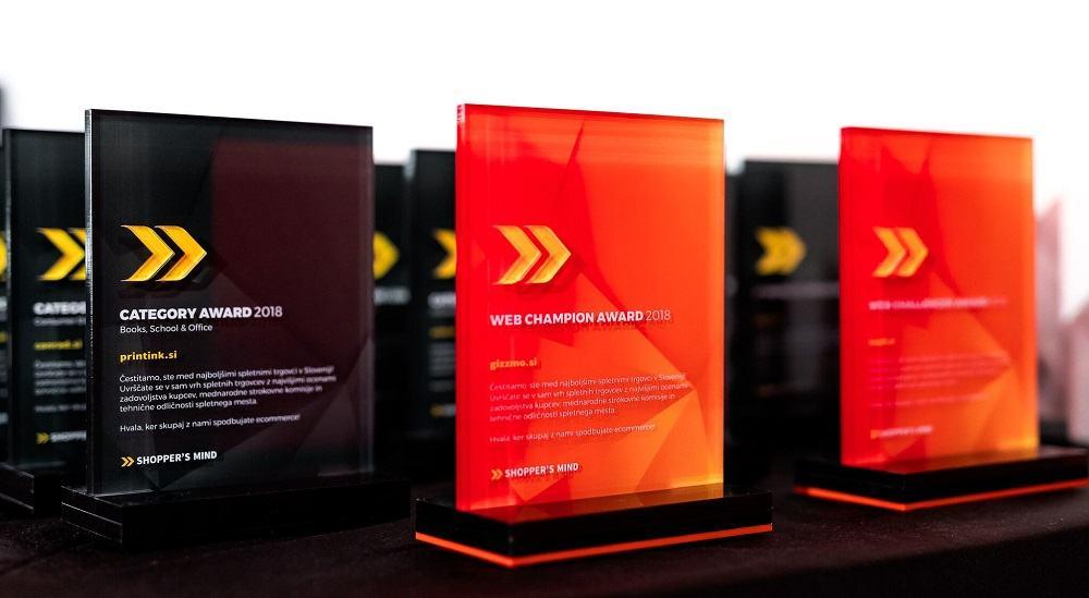 Nagrade so bile podeljene tudi po posameznih kategorijah dejavnosti spletnih trgovin.