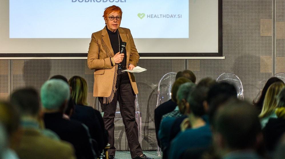 Ga. Jožka Hegler je poudarila nujnost sistemskega pristopa na področju tehnoloških inovacij v zdravstvu (Vir: Tehnološki park Ljubljana)