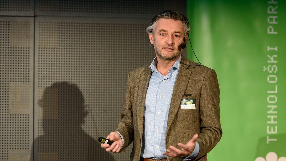 """Jack van Lint: """"Vse moči je treba upreti v to, da bi dobre ideje zaživele."""" (Vir: Tehnološki park Ljubljana)"""""""
