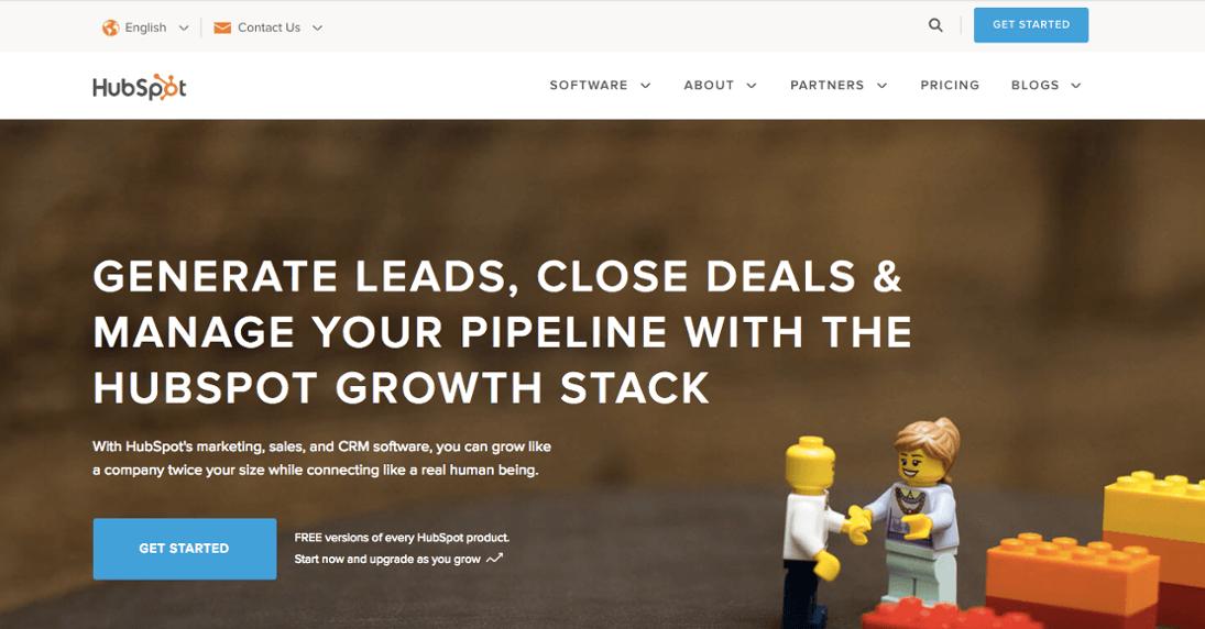 Spletna stran HubSpot