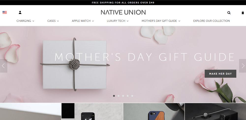 Spletna stran Native Union