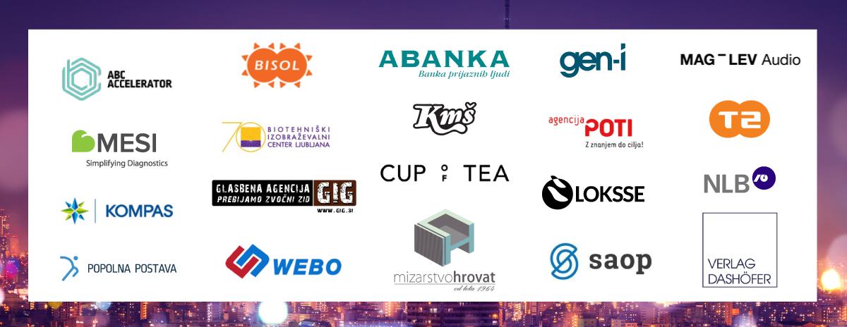 Podjetja, ki so prepoznala vrednost konference za svoje zaposlene.