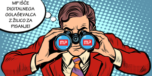 Razpis: MP išče digitalnega oglaševalca z žilico za pisanje
