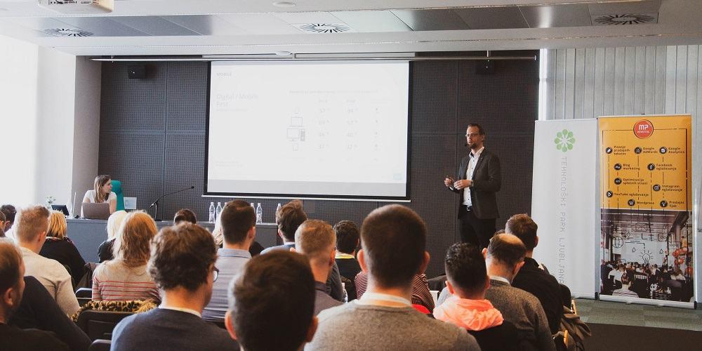 Miloš Suša je predstavil trende na področju digitalnega marketinga (Foto: Kristina Simčič)