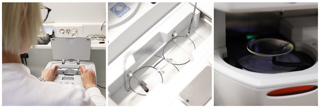 Postopek brušenja očal (Vir: osebni arhiv)